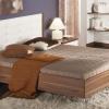Двоспальне ліжко з м`якою спинкою - приємний елемент декору