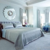 Блакитна спальня - небесний колір в оформленні кімнати