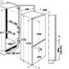 Холодильник, вбудований в шафу - лаконічне рішення