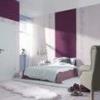 Комбінування шпалер різного кольору і фактури на одній стіні