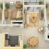 Проект одноповерхового будинку з трьома спальнями