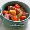 Рецепти для мультіваркі.кролік тушкований в червоному вині з овочами.