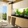Скляна стінна панель для кухні