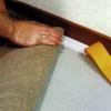 Укладання ковроліну на двосторонній скотч