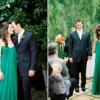Заміж у зеленому весільній сукні