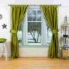 Зелені штори - ідеальний варіант для будь-якого приміщення в будинку